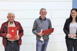 v. li.: Horst Paluch, Klaus Jung, Deirdre Heckler